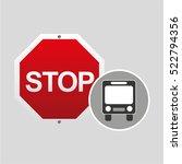 public transport stop road sign ... | Shutterstock .eps vector #522794356