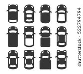 car top view icons set. vector | Shutterstock .eps vector #522794794