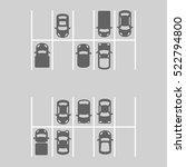 top view of parking lot. vector | Shutterstock .eps vector #522794800