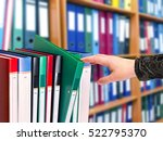 office document folders... | Shutterstock . vector #522795370
