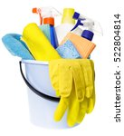 plastic bucket with rubber... | Shutterstock . vector #522804814