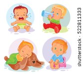 set of vector icons  toddlers | Shutterstock .eps vector #522811333