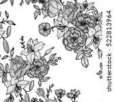 vintage vector floral seamless... | Shutterstock .eps vector #522813964