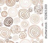 abstract seamless vector coffee ... | Shutterstock .eps vector #522821203