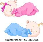 Two Charming Little Twins Sleep ...
