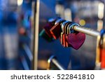 romance love padlocks or love... | Shutterstock . vector #522841810