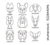 nine thin line design logotypes.... | Shutterstock .eps vector #522844096