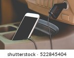 charger plug phone on car | Shutterstock . vector #522845404