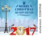 happy new year and merry... | Shutterstock .eps vector #522845968