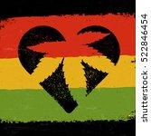 marijuana silhouette in heart... | Shutterstock .eps vector #522846454