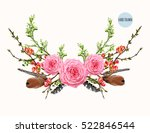 hand drawn boho chic style... | Shutterstock .eps vector #522846544