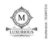luxury logo template in vector... | Shutterstock .eps vector #522847213
