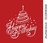 happy birthday card design with ... | Shutterstock .eps vector #522848368