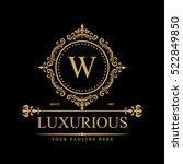 luxury logo template in vector...   Shutterstock .eps vector #522849850
