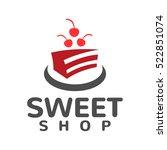 cake shop logo concept. sweet... | Shutterstock .eps vector #522851074