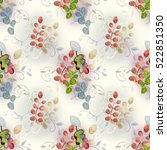 floral boho style on pattern | Shutterstock . vector #522851350