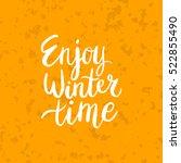 christmas card template. hand... | Shutterstock .eps vector #522855490
