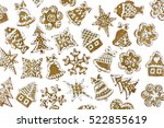 christmas homemade gingerbread...   Shutterstock . vector #522855619