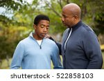 african american father... | Shutterstock . vector #522858103