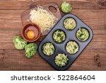 delicious egg muffins broccoli... | Shutterstock . vector #522864604