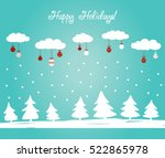 cute winter holiday background... | Shutterstock .eps vector #522865978