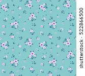 cute floral pattern in the... | Shutterstock .eps vector #522866500