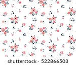 Stock vector cute floral pattern in the small flower ditsy print motifs scattered random seamless vector 522866503