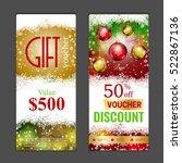 gift voucher template. can be... | Shutterstock .eps vector #522867136