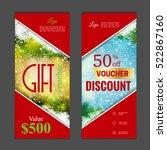 gift voucher template. can be... | Shutterstock .eps vector #522867160