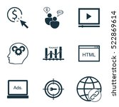 set of 9 advertising icons. can ...