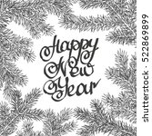 lettering happy new year... | Shutterstock .eps vector #522869899