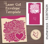 lasercut vector wedding... | Shutterstock .eps vector #522870634