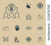 set of 12 universal editable... | Shutterstock .eps vector #522870700