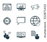 set of 9 marketing icons. can... | Shutterstock .eps vector #522871423