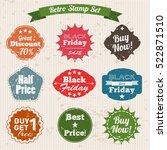 sale grunge vintage stamp set... | Shutterstock .eps vector #522871510