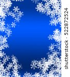 snowflake background | Shutterstock . vector #522872524