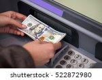woman hand showing dollar... | Shutterstock . vector #522872980