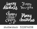 set of vector lettering happy... | Shutterstock .eps vector #522876358