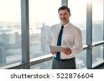 portrait of a mature... | Shutterstock . vector #522876604