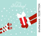 funny santa claus giving... | Shutterstock .eps vector #522877324