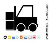 forklift icon   Shutterstock .eps vector #522880600