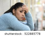 young beautiful sad and... | Shutterstock . vector #522885778