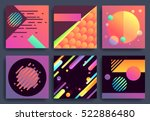 set of backgrounds with dynamic ... | Shutterstock .eps vector #522886480