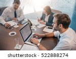 young businessman using a... | Shutterstock . vector #522888274