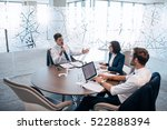 group of successful... | Shutterstock . vector #522888394