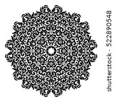 circle lace ornament  round... | Shutterstock .eps vector #522890548