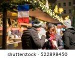 blurred image bokeh of people... | Shutterstock . vector #522898450