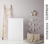 mock up poster frame in... | Shutterstock . vector #522898648