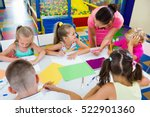 smiling cheerful glad kids... | Shutterstock . vector #522901360