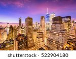 new york city financial... | Shutterstock . vector #522904180